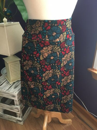 LuLaRoe Women's Sz XL Multicolor Straight Pencil Skirt Soft Stretchy