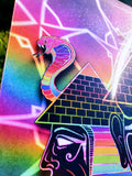 """Golden Age - Illuminated"" - Rainbow Holographic Lenticular Print"