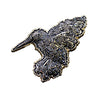"""Melty Bird"" 3D Gold Metal + Black Glitter Variant Hat Pin"