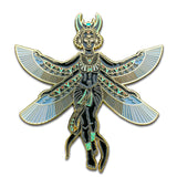 """Tryptamine Nephalem"" - Golden Goddess Pin"