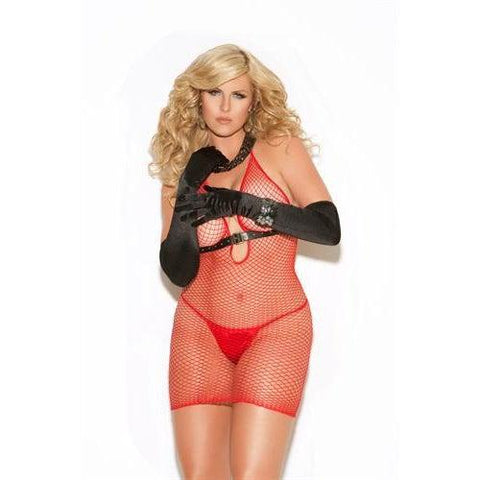 Diamond Net Dress - Queen Size - Red EM-8547Q