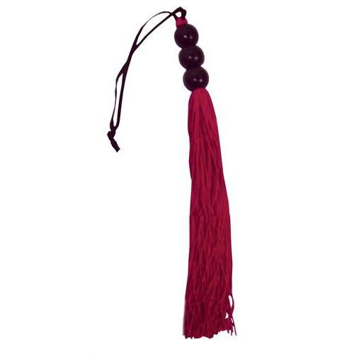 Sex and Mischief Rubber Whip Small 10 Inch - Red SS800-03