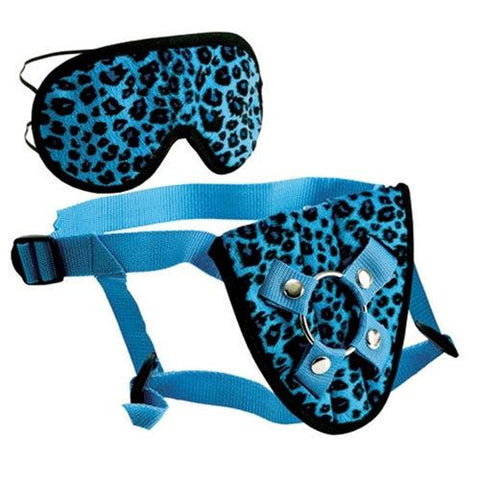 Furplay Harness and Mask - Blue Leopard SE1510103