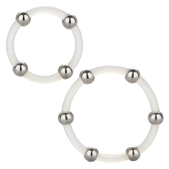 Steel Beaded Silicone Ring Set SE1437302