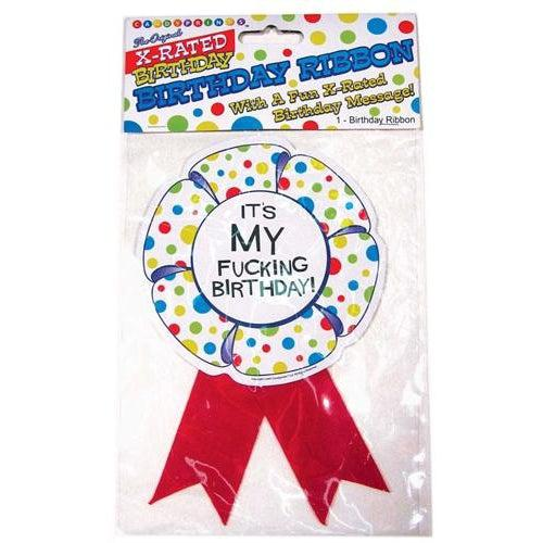 X-Rated Birthday Party Award Ribbon CP-544