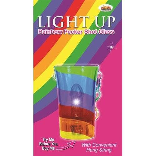 Light Up Rainbow Pecker Shot Glass HTP2969