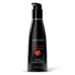 Aqua Strawberry Water-Based Lubricant 4 Oz WS-90414