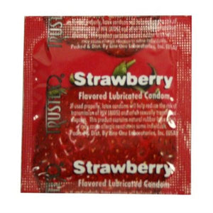Trustex Flavored Lubricated Condoms - 3 Pack - Strawberry AL-4015