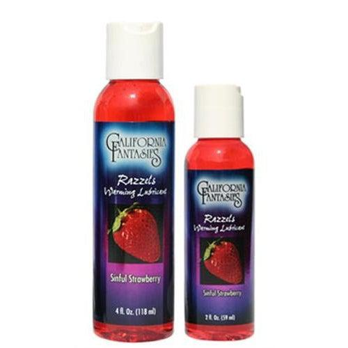 Razzels Warming Lubricant - Sinful Strawberry - 2 Oz. Bottle CF-RSS-02