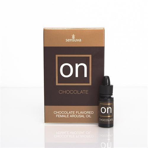 On Chocolate Flavored Female Arousal Oil - .17 Oz. - Large Box SEN-VL174L