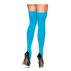 Sheer Thigh High - One Size - Turquoise EM-1725T