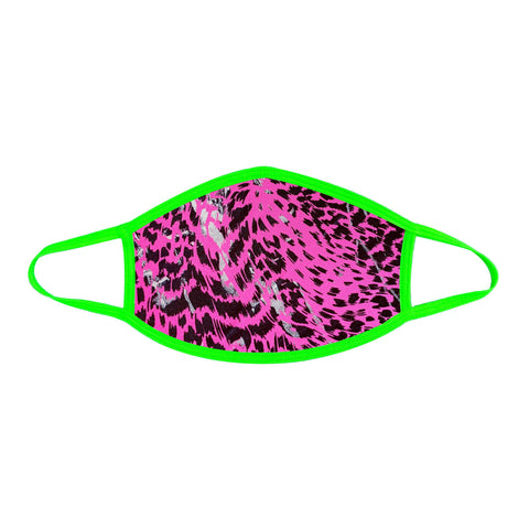 Toxic Kitty Uv Face Mask With Neon Green Trim NN-MSKM-BCHGR2