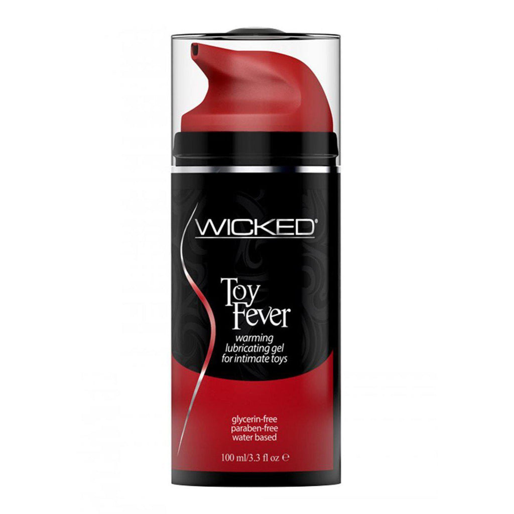 Wicked Toy Fever Warming Lubricating Gel Water Based for Intimate Toys 3.3 Ounce WS-90223