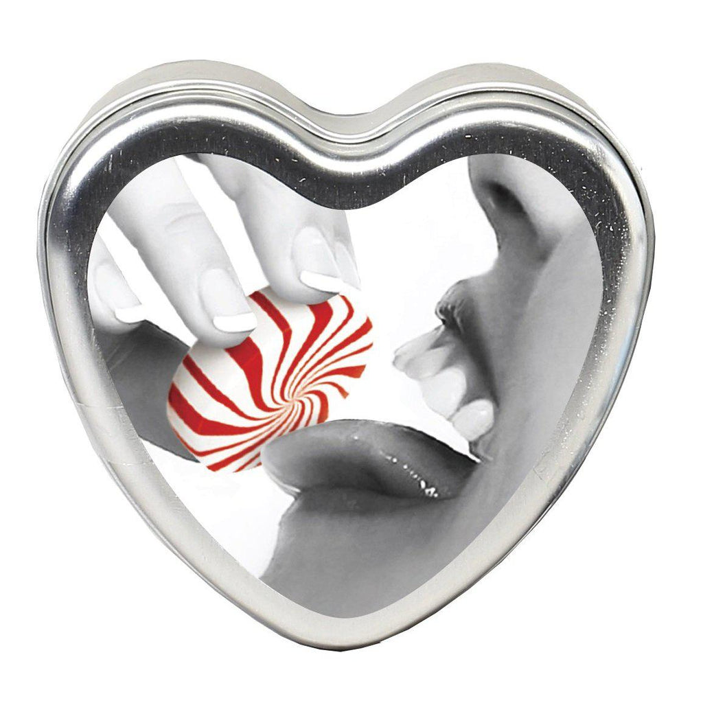 Edible Heart Candle - Mint - 4 Oz. EB-HSCK008