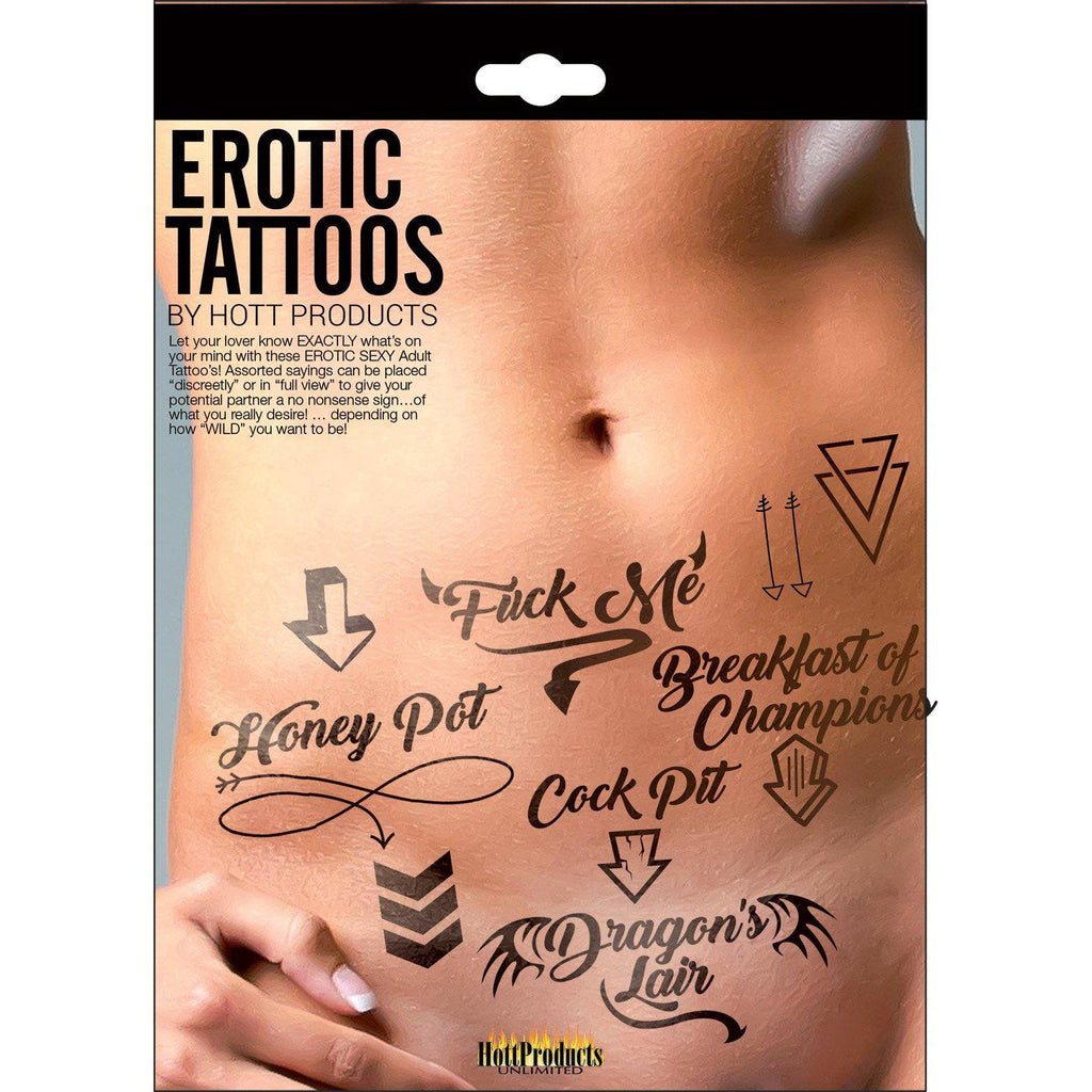 Erotic Tattoo's - Assorted Pack HTP3206