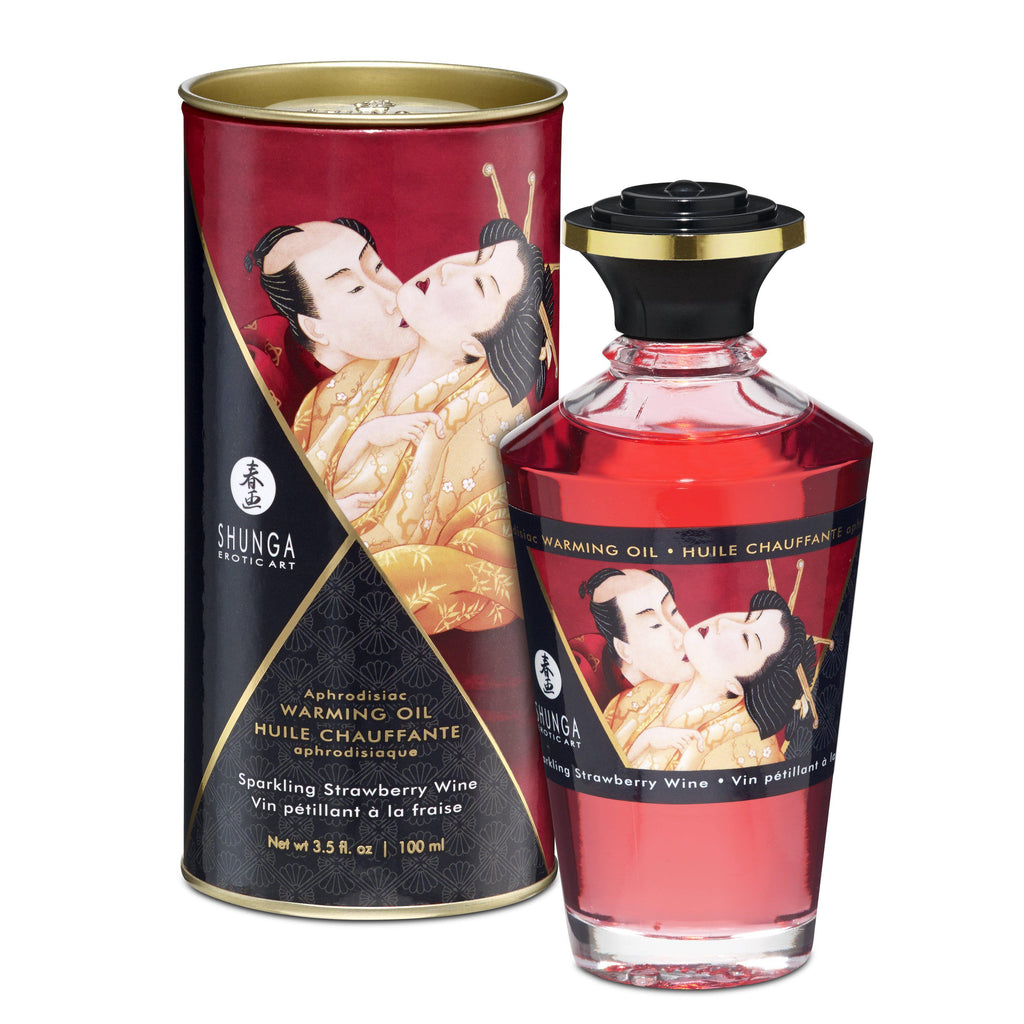 Aphrodisiac Warming Oil - Sparkling Strawberry  Wine SHU2208