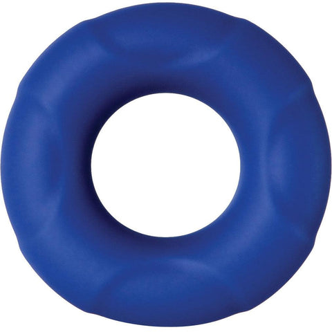 Adam and Eve Big Man Silicone Cock Ring - Blue AE-WF-4319-2
