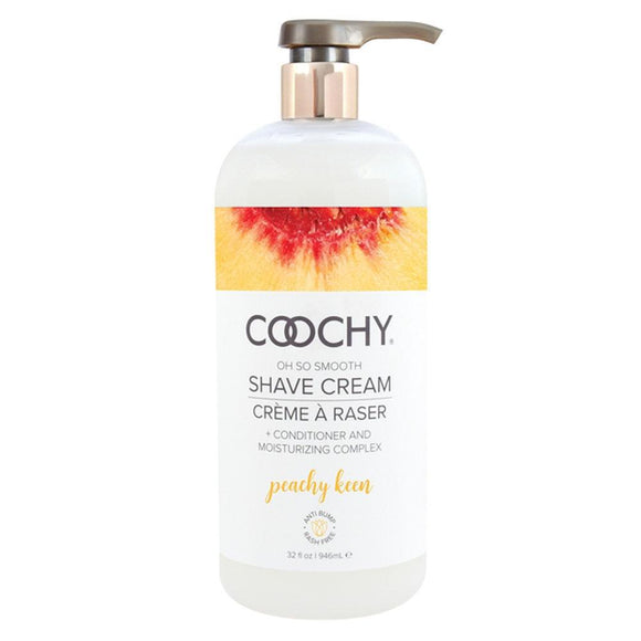 Coochy Oh So Smooth Shave Cream - Peachy Keen 32 Fl Oz COO1014-32