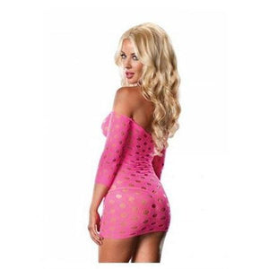 Seamless Pothole Mini Dress With 3/4 Sleeve