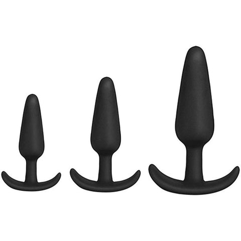 Anal Essentials 3-Piece Silicone Trainer Set - Black DJ2401-47-CD