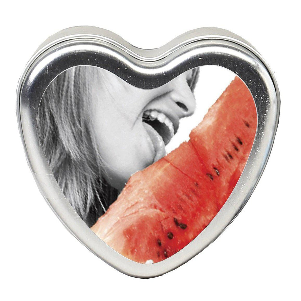 Edible Heart Candle - Watermelon - 4 Oz. EB-HSCK004
