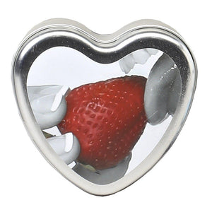 Edible Heart Candle - Strawberry - 4 Oz. EB-HSCK003