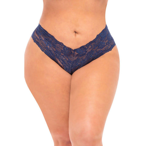 Good Night Kiss Boyshort With Elastic Detail - Estate Blue - 3x4x OH-2025X-EBL3X4X
