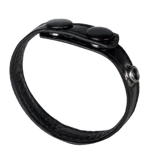 The Macho Collection 3-Snap Cock Ring - Black NW2476