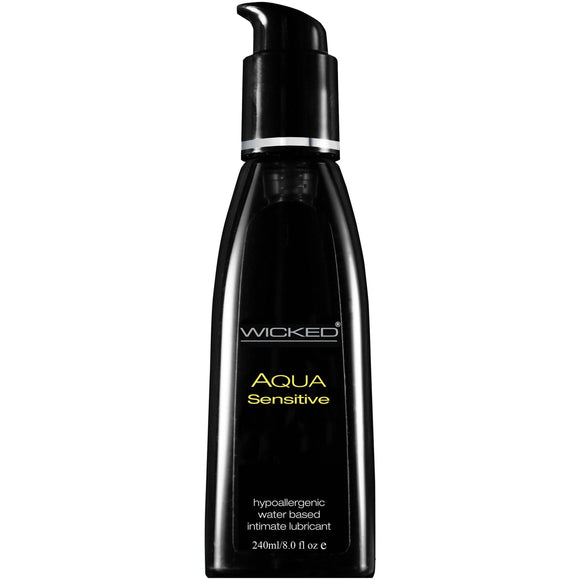 Wicked Aqua Sensitive Hypoallergenic Water Based Lubricant 8.0 Oz WS-90208