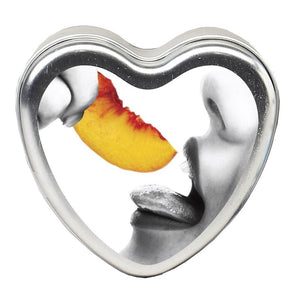 Edible Heart Candle - Peach - 4 Oz. EB-HSCK006