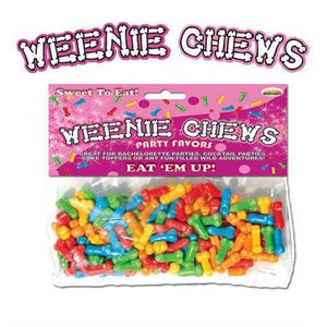 Weenie Chews Multi Flavor Assorted Penis Shaped Candy - 125 Piece Bag HTP2120