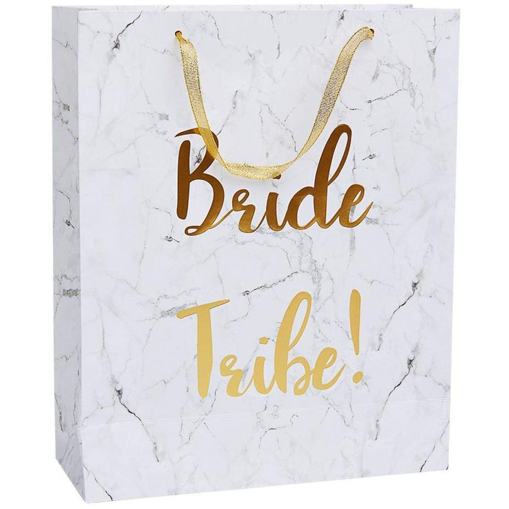 White and Gold Bride Tribe Gift Bag FV-23784