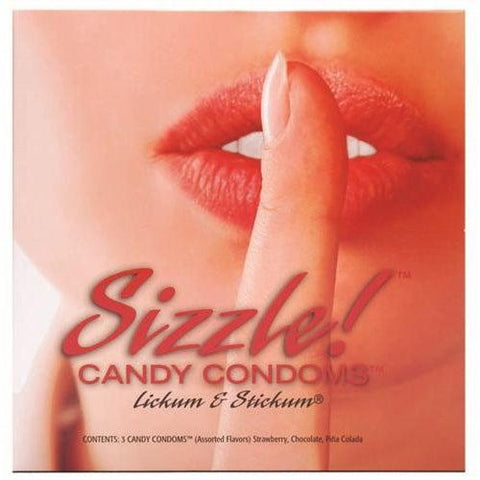 Sizzle! Candy Condoms - 3 Pack KI0052