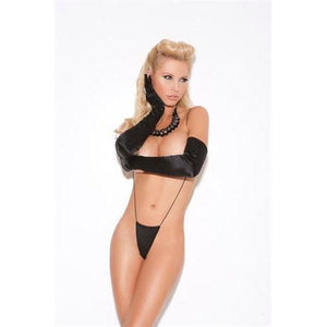 Suspender Thong - One Size - Black EM-8504