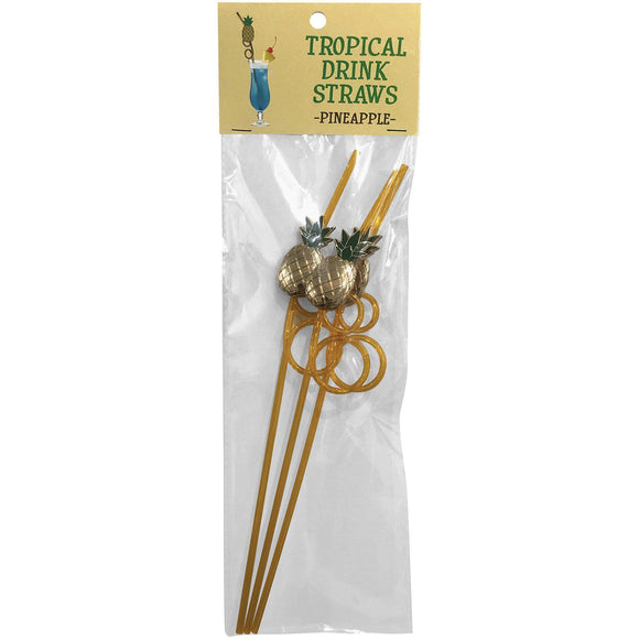 Tropical Drinking Straws - Pineapple - 3 Pack KG-NVD96