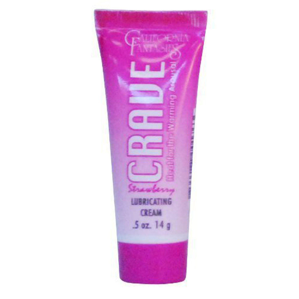 Crave Warming Lubricanting Cream Strawberry Flavored 0.5 Oz Tube CF-CRH-BE