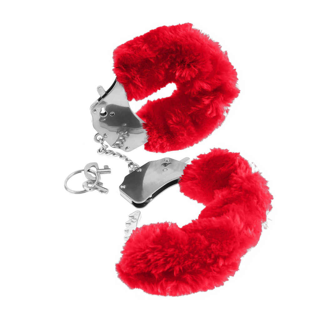 Fetish Fantasy Series Furry Cuffs - Red PD3804-15
