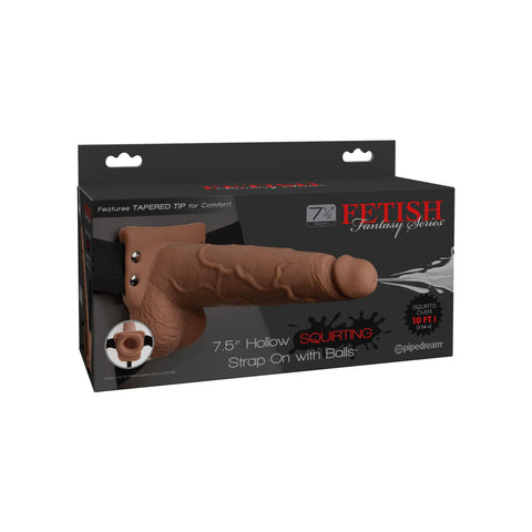 Fetish Fantasy Series 7.5 Hollow Squirting Strap-on With Balls - PD3397-22