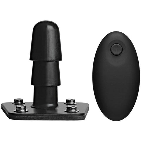 Vac-U-Lock - Vibrating Plug With Snaps & Wireless Remote - Black DJ1010-50-BX