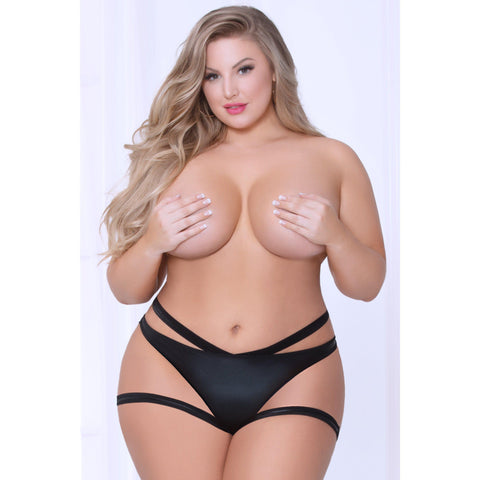 Boyshort - Queen Size - Black STM-10962XP