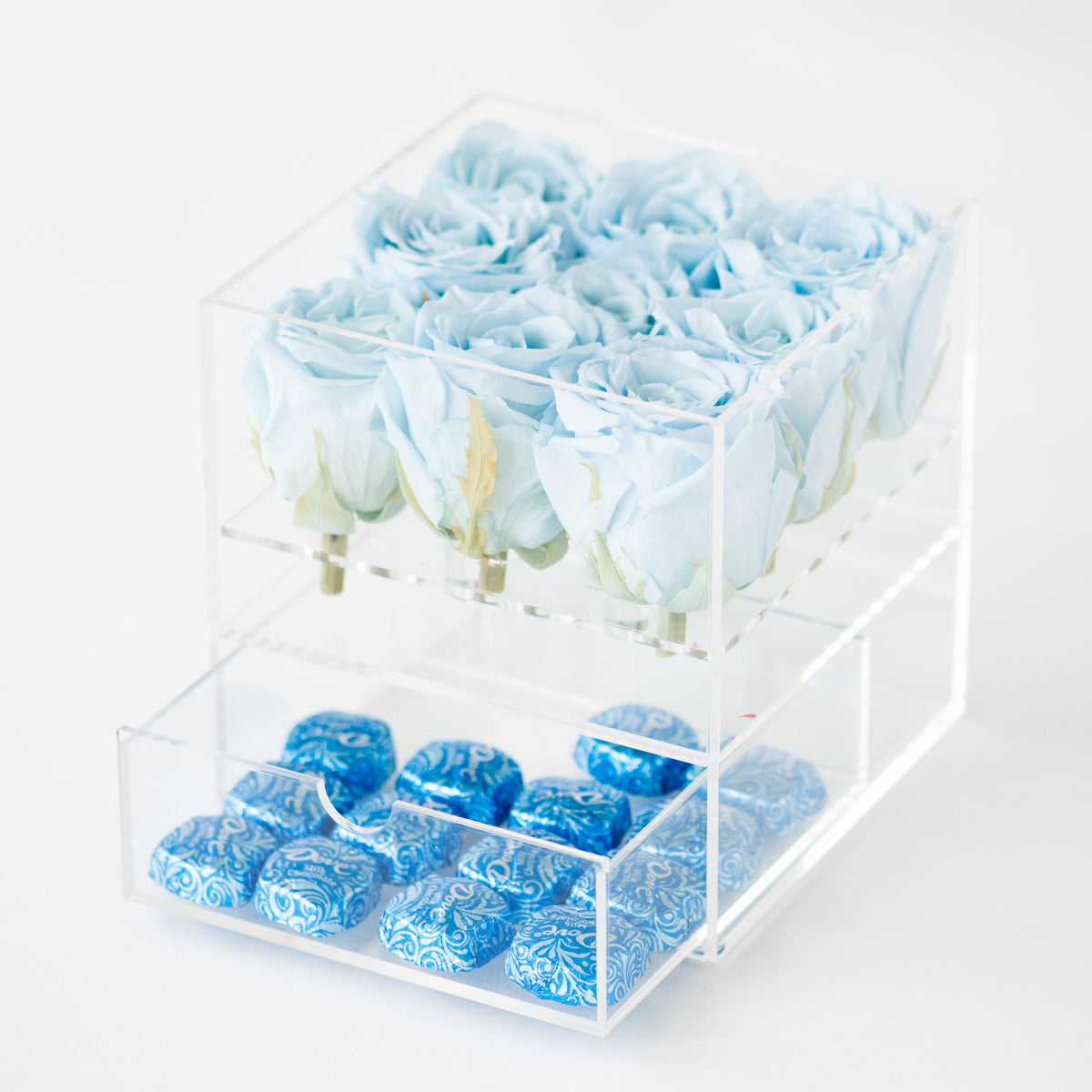 9 Roses with Drawer Preserved