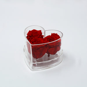Small Heart Preserved (3 Roses)