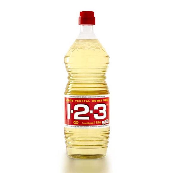 ACEITE VEGETAL 123 EN BOTELLA DE 900 ML