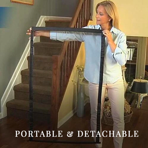 portable and detachable mesh dog gate