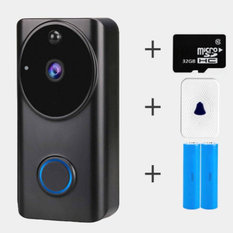 InterBell™ Wireless Doorbell Camera 1080P (New Version) With Chime + 2 Battery + 32GB Card