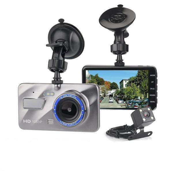 Front and Rear Dash Cam, Best Front and Rear Dual Dash Cam - Grey | 1080p Full HD Car Dash Camera Front and Rear