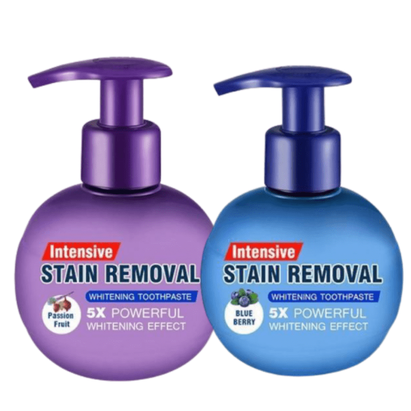 Intensive Stain Removal Whitening Toothpaste BLUEBERRY + PASSION FRUIT