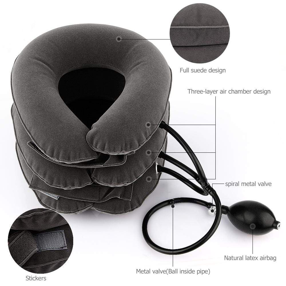 EasyRelief™ Inflatable Cervical Neck Traction Pillow