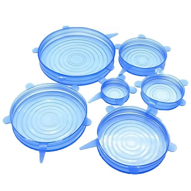 Reusable Silicone Stretch Lids (6 Pcs)