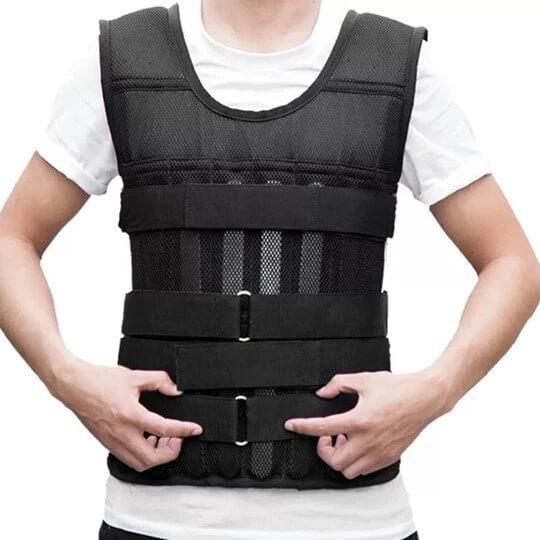 Dibiao Weighted Vest,110LB 50KG Adjustable Workout Weighted Vest Exercise Strength Training Fitness
